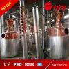 Destilería de cobre que hace el equipo para el whisky