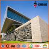 Painel de alumínio ao ar livre creativo da fachada do edifício PVDF da forma do projeto