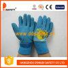 Голубая перчатка Dcl520 латекса синих хлопков