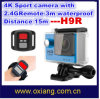 Remote (OX-H3R)를 가진 중국 Factory Price The Latest Gopro Hero 4 Ultraslim Ultra-Full 4k 2 'Ltps LCD Mini WiFi Waterproof Sport Action Camera DV