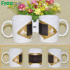 11oz Ceramic White Mug con Fan Color Changing