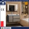 現代壁はLEDミラーが付いている浴室の虚栄心の単位をハングさせた