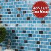 mosaico de vidro de derretimento da mistura azul da ligação do tijolo de 20X30mm (BGZ010)