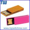 Flash de almacenamiento de plástico de uso de oficina del clip de papel USB Drives con el logotipo de impresión libre y envío de la empresa regalo de la promoción
