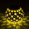 태양 강화된 모자이크 유리 색깔 변화 테이블 램프