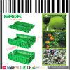 Cassa di plastica accatastabile e pieghevole della frutta