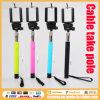 El cable más nuevo de 2015 coloridos Monopod toma a poste para el palillo de Selfie