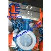 DIN/ANSI Oblate-Drosselventil des duktilen Eisen-pneumatisches PTFE