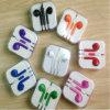 Fone de ouvido colorido com telecontrole e Mic para o iPhone 7