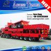 3 반 차축 40FT 측벽 평상형 트레일러 콘테이너 트럭 트레일러