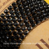 2mm-5mm Jet Black Single Row Rhinestone Cup Banding