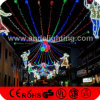 Lumières imperméables à l'eau de motif de Noël lumineuses par rue de la décoration DEL