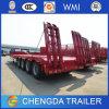 4 Radachse 80ton Hydraulic Lowbed Semi Trailer