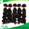 Человеческие волосы бразильянина качества нарисованные двойником 100% пачки волос Vrgin