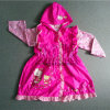 PVC bonito Waterproof Rain Wear de Design Pink Color para Girls