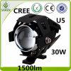 12-80V indicatore luminoso impermeabile dello stroboscopio del motociclo del CREE 30W U5 LED