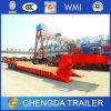 Essieu de TIR remorque inférieure hydraulique de bâti de 60 tonnes avec le col de cygne détachable
