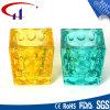 Bunte würfelförmige Form Tealight Glaskerze-Halter (CHZ8018)