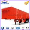 Desenhador 60ton de venda quente carga incluida de Van do eixo de 3 BPW/caravana/reboque pesado de serviço público da caixa do caminhão do trator