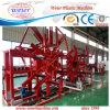 Machine en plastique d'extrusion de pipe d'évacuation de gaz d'eau du PE PPR avec le poste du travail trois