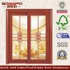 Porta de madeira contínua de vidro da entrada dobro (XS3-011)