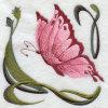Butterfly002刺繍のバッジ(EMB139)