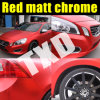 Красный Matt Metallic Chrome Film для обруча Car