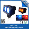 proyector amonestador del LED del trabajo azul/rojo del CREE 6W para la carretilla elevadora