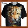 Chemise courte de mode et T-shirts ronds du noir 3D de collet