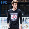 T-shirt occasionnel de Long-Chemises de modèle de mode de rue de marque d'OEM