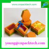 Rectángulo de regalo de encargo delicado del papel de imprenta de la cartulina del rectángulo de joyería