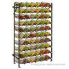Soporte de visualización montado en la pared de la colección del vino del estante del organizador de la bodega del metal