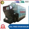 Chaudière à vapeur manuelle à chaînes horizontale d'essence de charbon de tube d'incendie de grille
