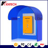 Cabine téléphonique Koontech rf 11 d'épreuve saine bleue transparente