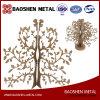 Personnalisé Precise Laer Cutting Christmas Golden Tree Metal Bureau / Cadeau / Décoration intérieure Sculpture