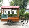 3개의 바퀴를 가진 정면 상자 커피 기계 자전거