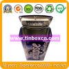 Прямоугольная прикрепленная на петлях коробка олова, жестяная коробка камеди, контейнер металла Mint