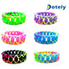 A mistura colore o bracelete de borracha da faixa de pulso do Wristband do bracelete Chain do silicone