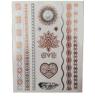 etiqueta engomada de destello de oro del tatuaje del arte de las etiquetas engomadas del tatuaje de la manera