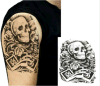 Etiqueta engomada temporal impermeable del tatuaje del hombro del brazo del diseño del cráneo
