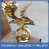 Artigianato dorati della decorazione dell'acciaio inossidabile dell'aquila dello specchio 8k per visualizzazione/mostra