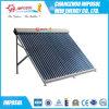 Tanque de água solar rachado do aço inoxidável da parte superior