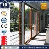 Portelli scorrevoli di vetro del grano di legno interno caldo di vendita con lo SGS