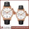Relógio grande do esporte do aço inoxidável de quartzo da coroa