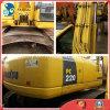 Excavador hidráulico usado retroexcavadora de Japón 1.0cbm/22ton KOMATSU PC220-7 de la correa eslabonada de la Amarillo-Capa