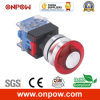 Onpow 30mm een Type Mushroom Switch (LAS0-K30-11mA/R/12V, Ce, CCC, RoHS)