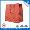 Papier d'impression couleur rouge Sac de shopping avec Laminage