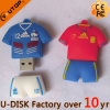 Memória do USB do PVC dos desenhos animados do t-shirt do basquetebol da camisa de polo (YT-6433-17)