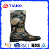 PVC Rain Boots del fiore per Lady (TNK70019)