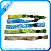 Berufsfabrik-Großverkauf-kundenspezifisches Festivalgewebe gesponnene Wristbands keine minimale Ordnung